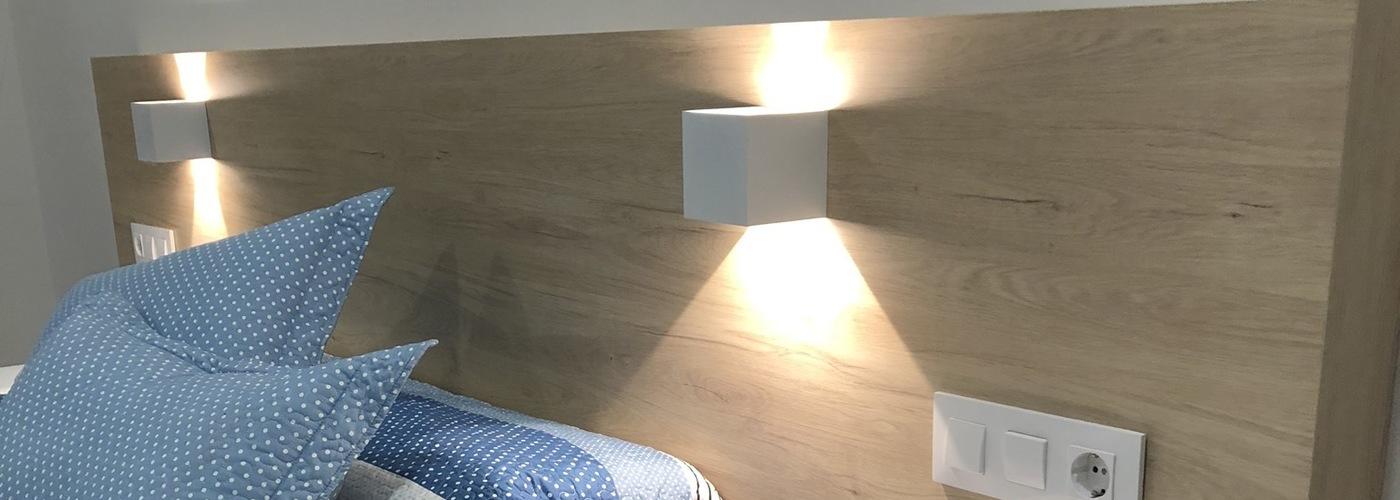 dormitorio a medida blanco y madera