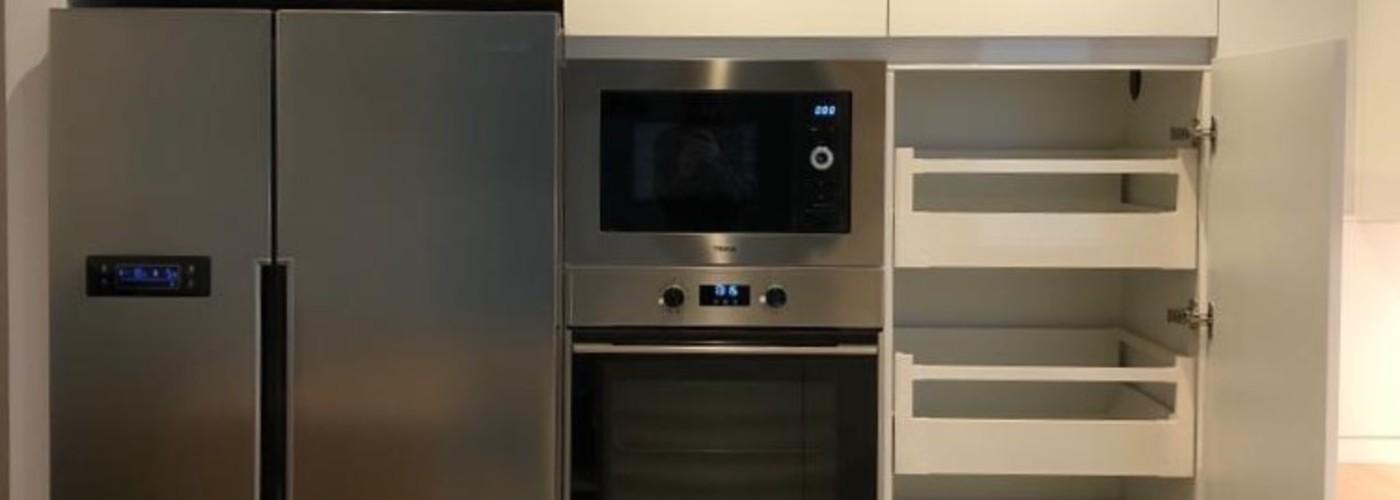 cocina blanco mate gavetas interiores