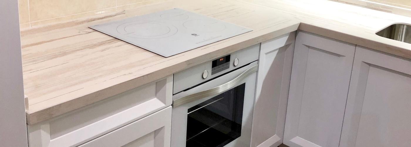 cocina lacada blanca clasica moderna sin tirador